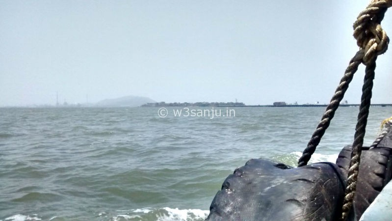 Elephanta island view from boat