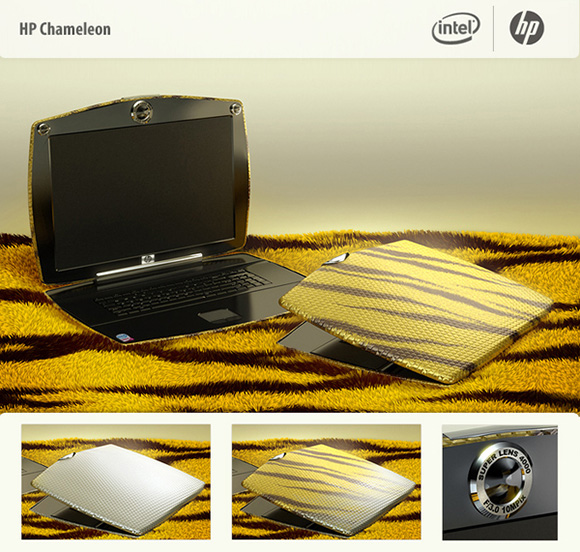 hp chameleon laptop for crazy girls