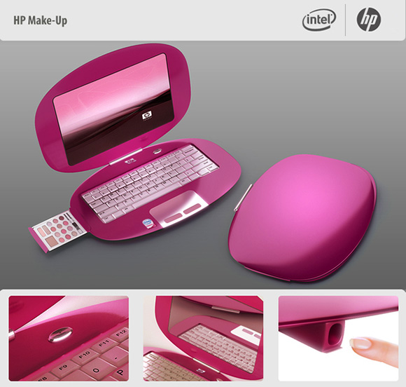 make up laptop for crazy girls