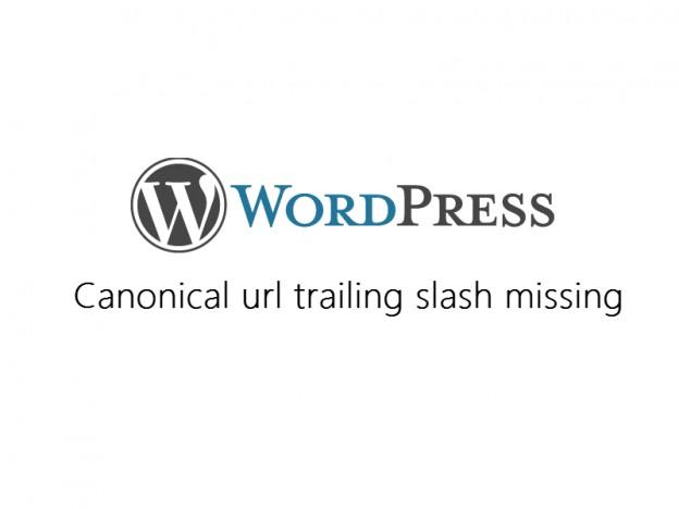 wordpress canonical trailing slash