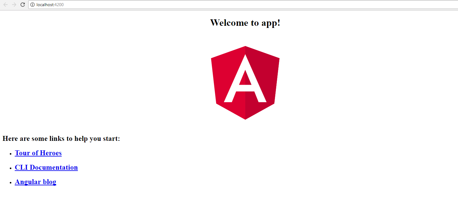 run angular cli app in a web browser
